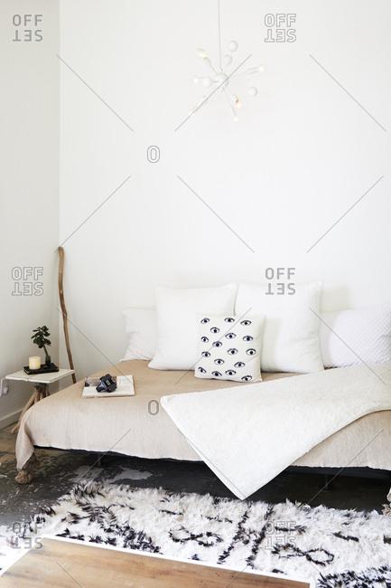 Elk, Mendocino County, California, USA - July 30, 2017: Minimalist living room inside modern home