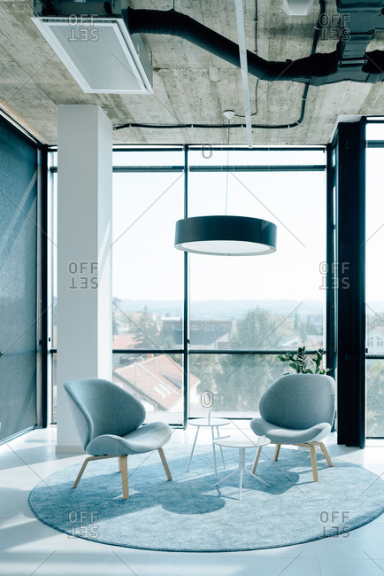 Modern interior design of an IT company
