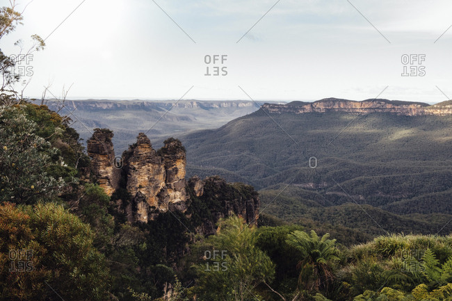 Scenic view of Blue Mountains against sky