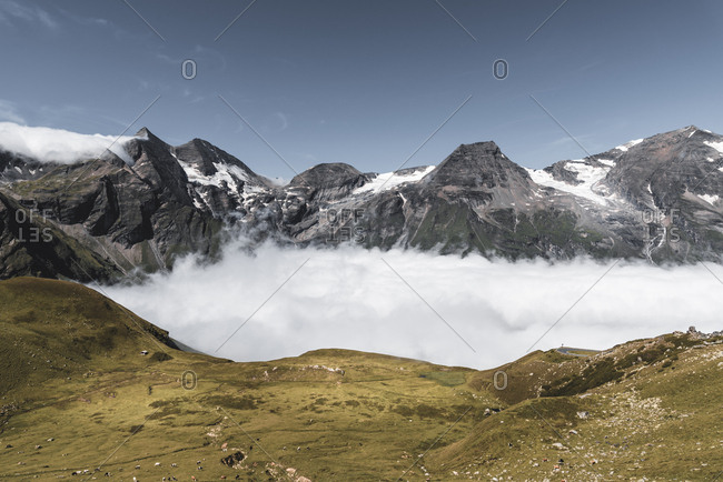 Scenic view of Grossglockner against sky during sunny day