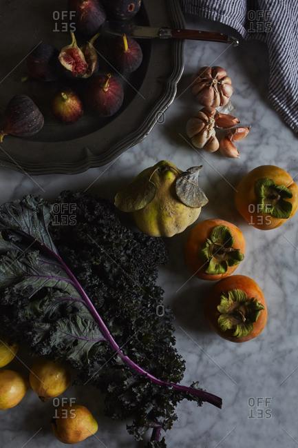 Variety of fall produce