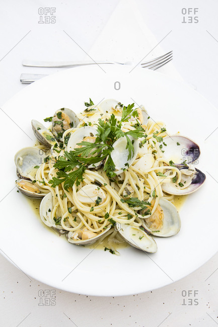 Seafood pasta dish - Offset Collection
