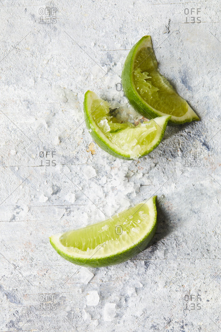 Lime wedges and sea salt