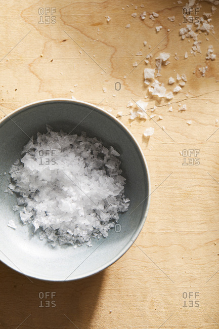 Salt in a small dish