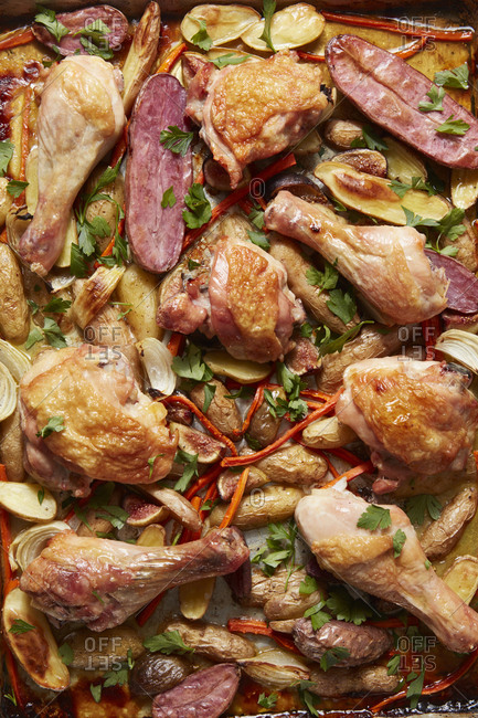 Roasted chicken dish