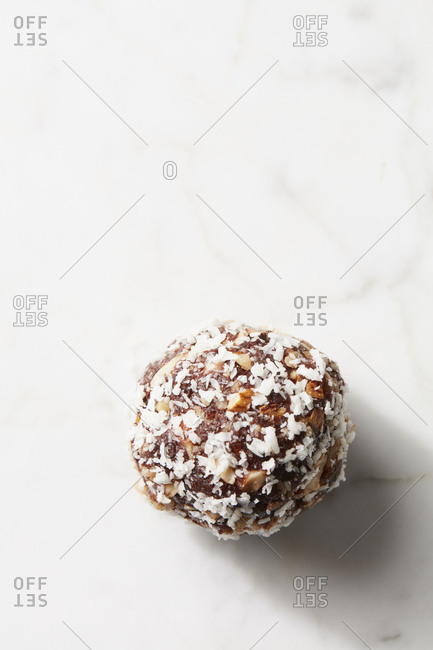 Chocolate coconut protein ball