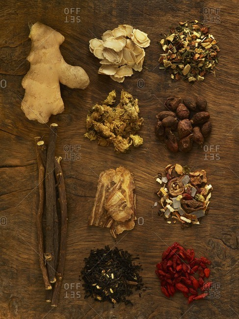 Herbs used for alternative medicine