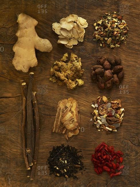 Herbs used for alternative medicine