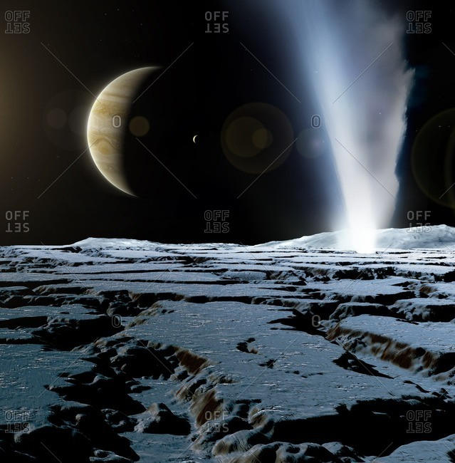 Geyser on Europa, illustration