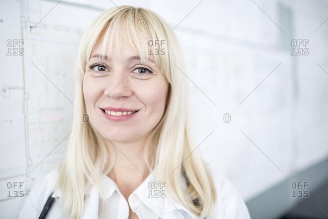 Doctor smiling towards camera