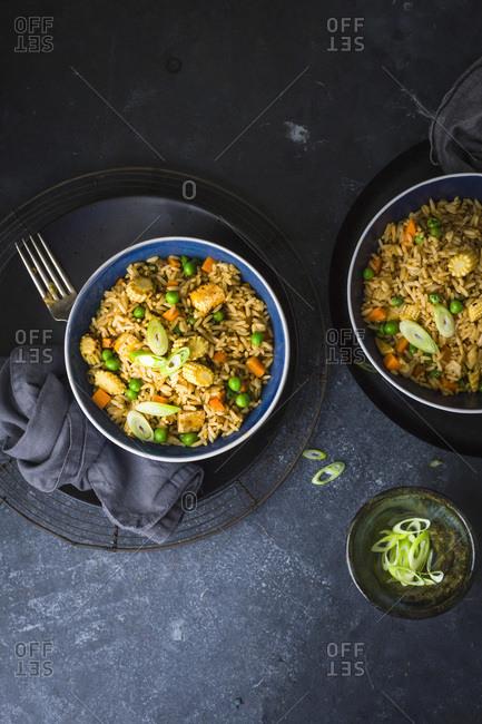Honey Soy Stir Fried Rice with Tofu