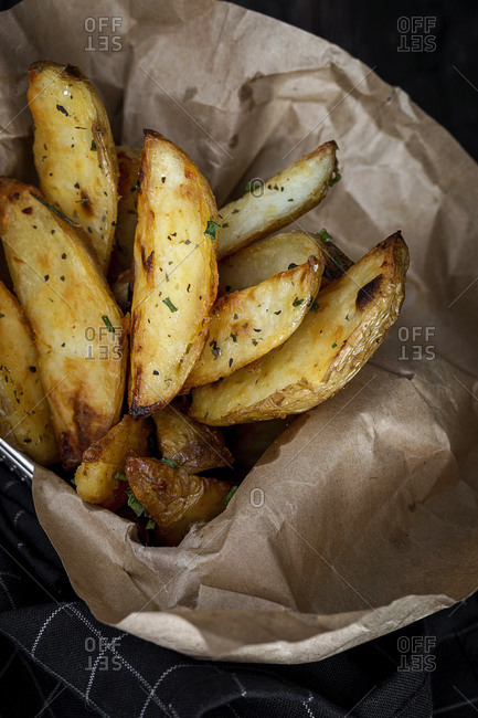 French fries golden and crunchy