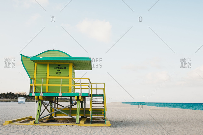 Lifeguard cabin on beach