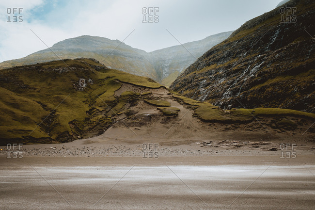 Seashore in Feroe island