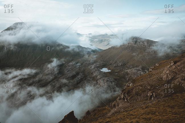 Mountain edge on Feroe Island