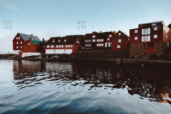 Big houses at seashore