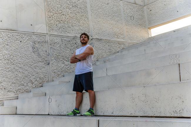 Sportsman standings on steps