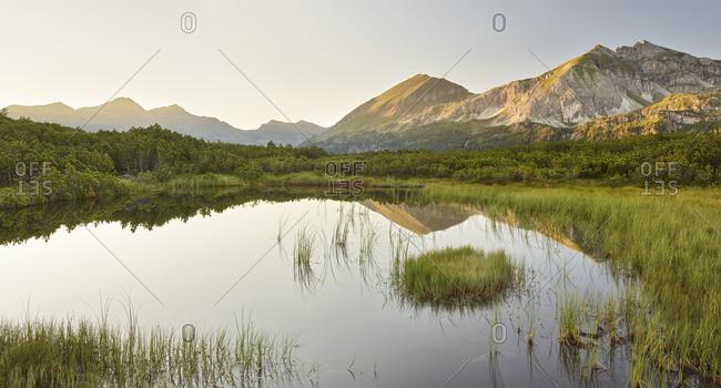 Anonymous lake near the Scheckkopf, Radstadter Tauern, Salzburg, Austria