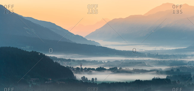 View in the Gailtal, Carinthia, Austria