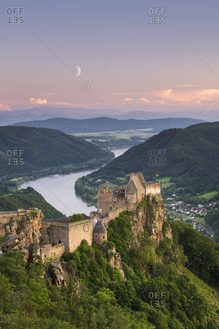 Castle ruin Aggstein, the Danube, Wachau, Mostviertel (Must Quarter), Lower Austria, Austria