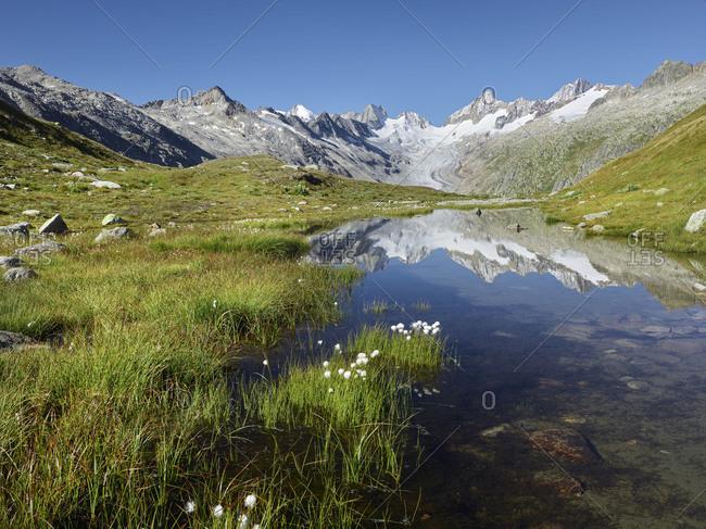 Oberaarhorn, Oberaargletscher, Triebtenseewli, Grimselpass, the Bernese Oberland, Switzerland