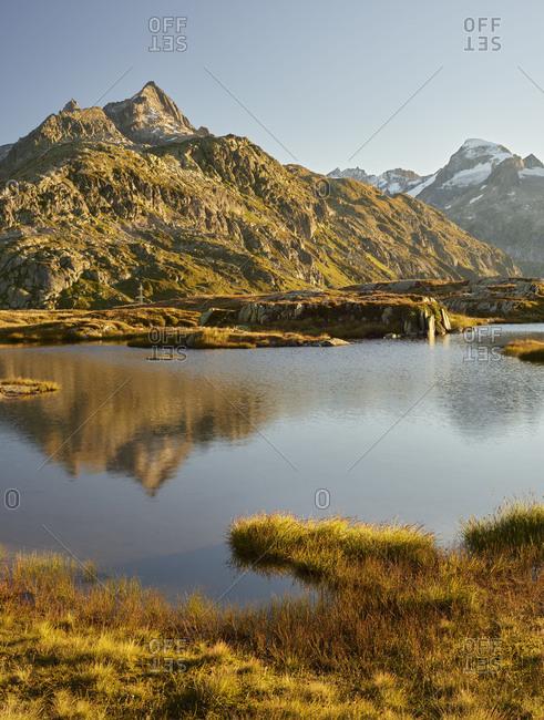 Garstenhorner, Gross Furkahorn, Grimselpass, Urner alps, the Bernese Oberland, Switzerland