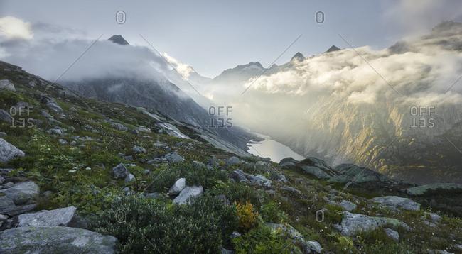 Grimselsee, Schreckhorn, Grimselpass, the Bernese Oberland, Switzerland