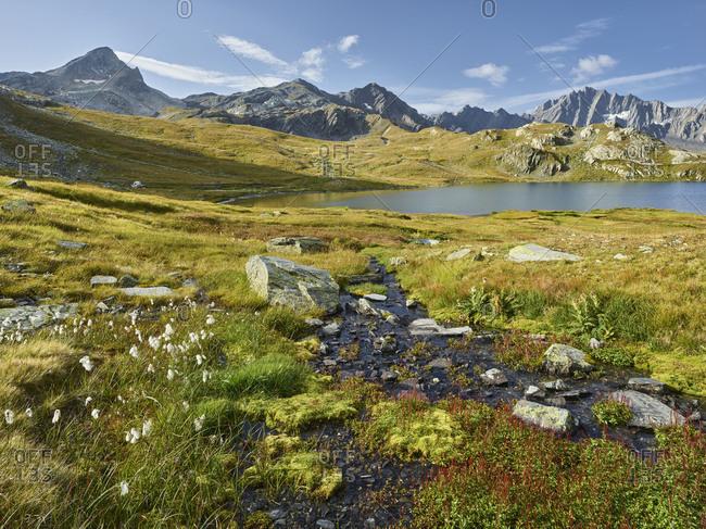 Lacs de Fenetre, point de Drone, Grand Golliat, Valais, Switzerland