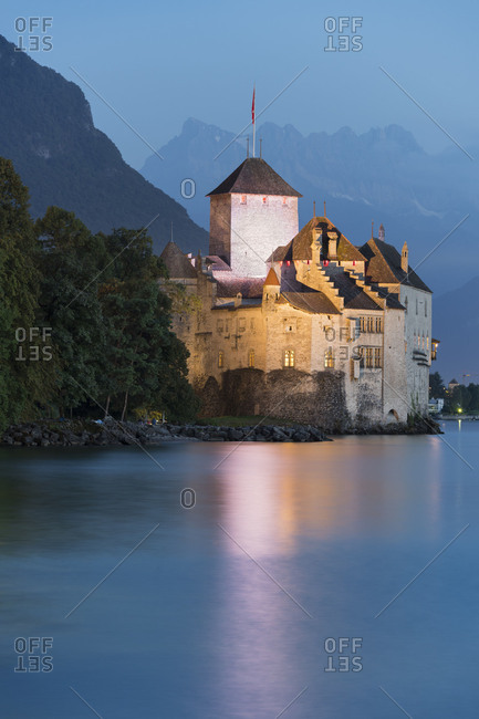 Castle Chillon, Veytaux, Montreux, Lake Geneva, Vaud, Switzerland