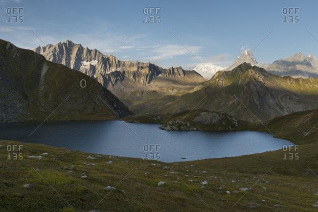 Lacs de Fenetre, Grand Golliat, Grandes Jorasses, Valais, Switzerland
