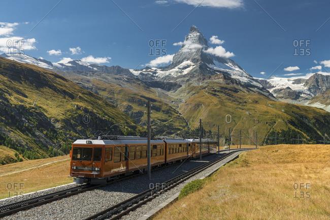 May 24, 2017: Gornergratbahn, Matterhorn, Valais, Switzerland