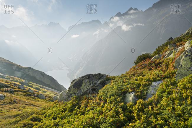 Schreckhorn, Grimselpass, the Bernese Oberland, Switzerland