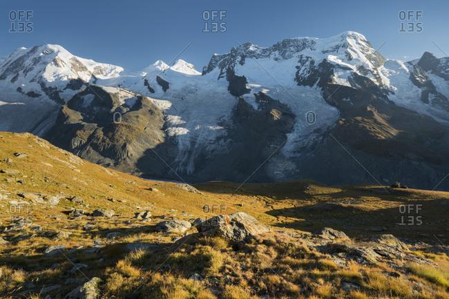 Dufourspitze, Lyskamm, Breithorn, Gornergletscher, Gornergrat, Valais, Switzerland