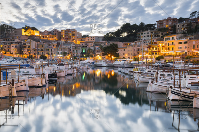 May 24, 2017: Harbour of port de Soller, Majorca, the Balearic Islands, Spain