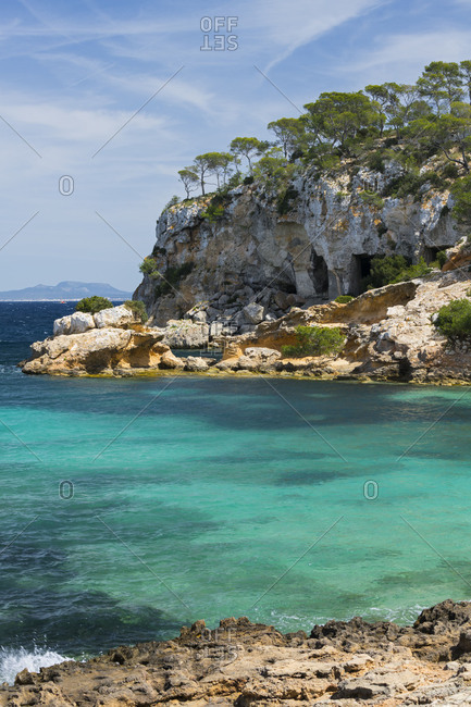Cala of portal Vells, Majorca, the Balearic Islands, Spain