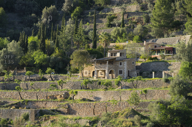 House with Bunyola, Majorca, the Balearic Islands, Spain