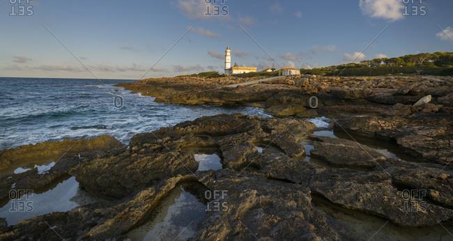 Faro Ses Salines, Majorca, the Balearic Islands, Spain