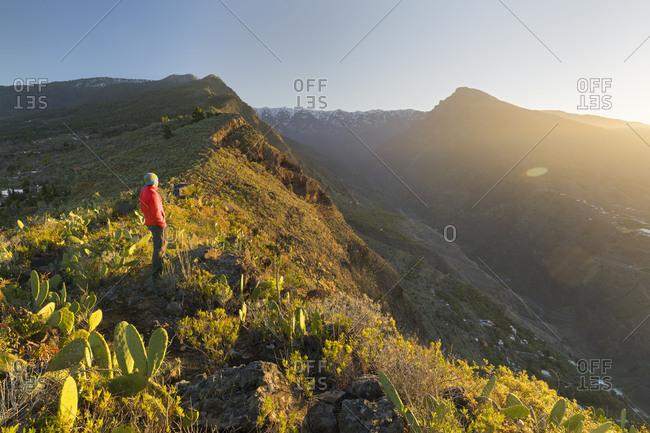 Mirador de las Cabezadas, Barranco de Las Angustias, Caldera de Taburiente, Los Llanos de Aridane, island La Palma, Canary islands, Spain