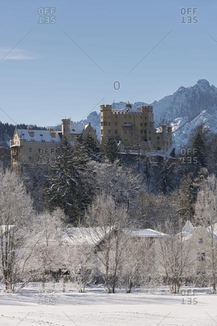 Castle Hohenschwangau, Schwangau, Allgau, Bavarians, Germany