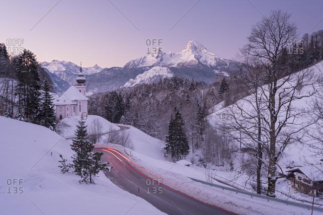 Maria Gern, Watzmann, Berchtesgadener country, Bavaria, Germany
