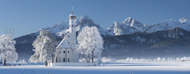 St. Coloman, Tannheimer mountains, Allgau, Bavaria, Germany