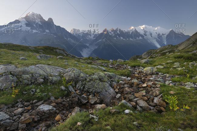 Aiguilles Verte, Grandes Jorasses, Montblanc, Haute-Savoie, France