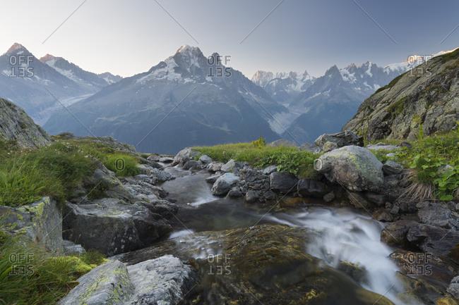 Aiguille du Chardonnet, Aiguille Verte, Grandes Jorasses, Montblanc, Haute-Savoie, France