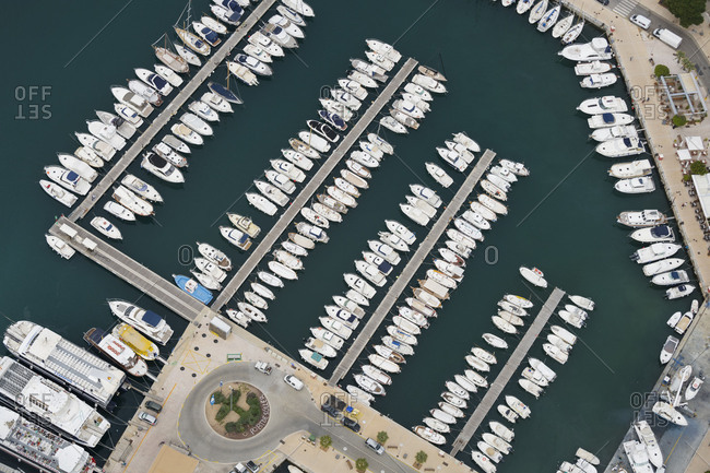 May 24, 2017: Harbour of port de Soller, Majorca, the Balearic Islands, Spain