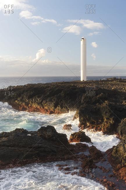 Faro La Salemera, island La Palma, Canary islands, Spain