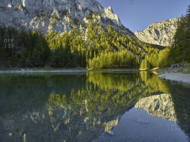 Green lake, upper town, Hochschwab area, Styria, Austria