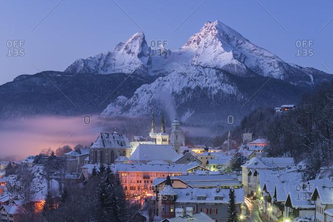 May 24, 2017: Berchtesgaden, Watzmann, Berchtesgadener country, Bavaria, Germany