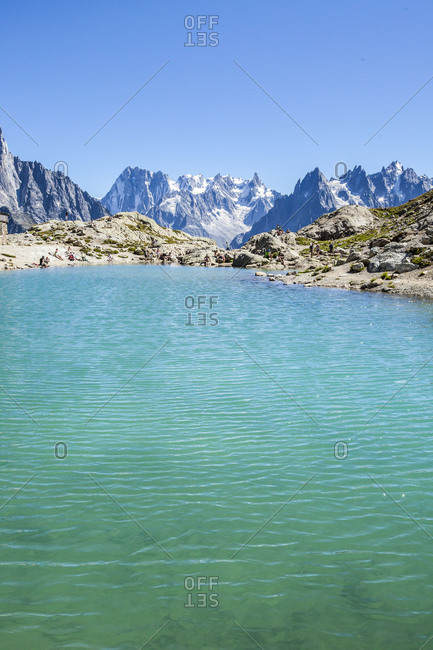 Lac Chesery. Monte Bianco Haute Savoie France