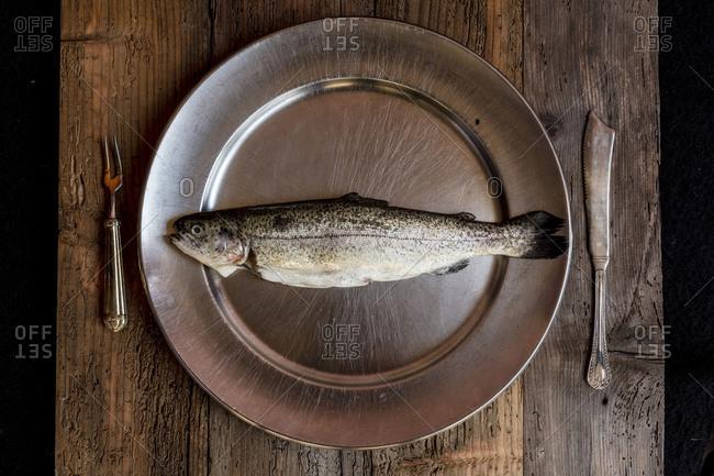 Fresh fish genuine ingredient of healthy Italian cooking
