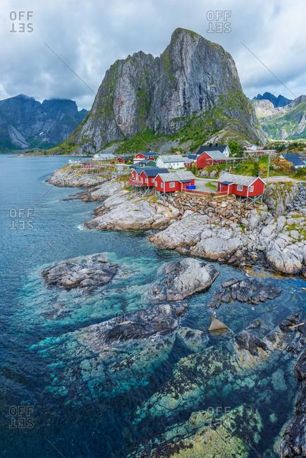Rorbu, the typical Norwegian fishing houses, Lofoten Islands, Norway